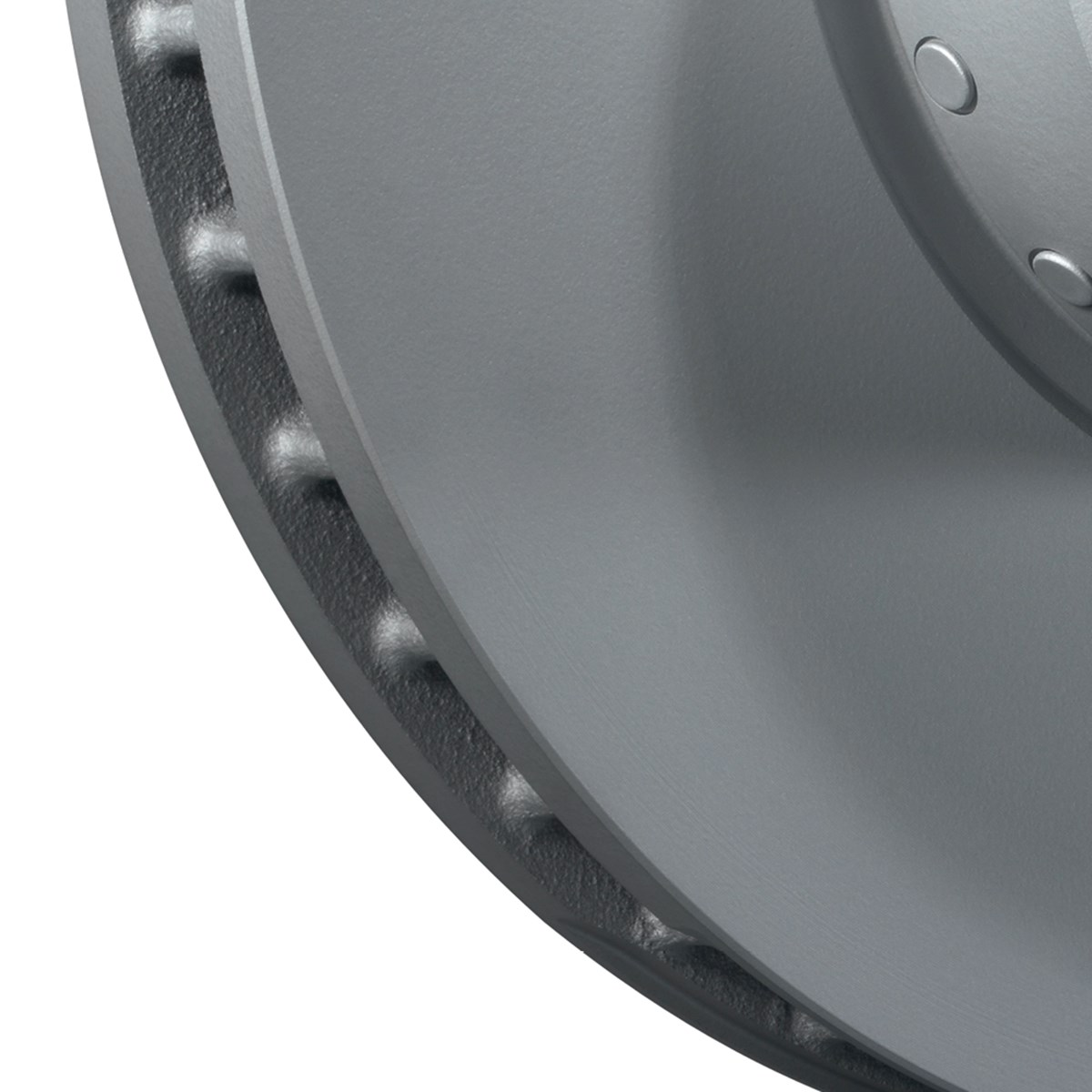 Coated brake discs - detail view