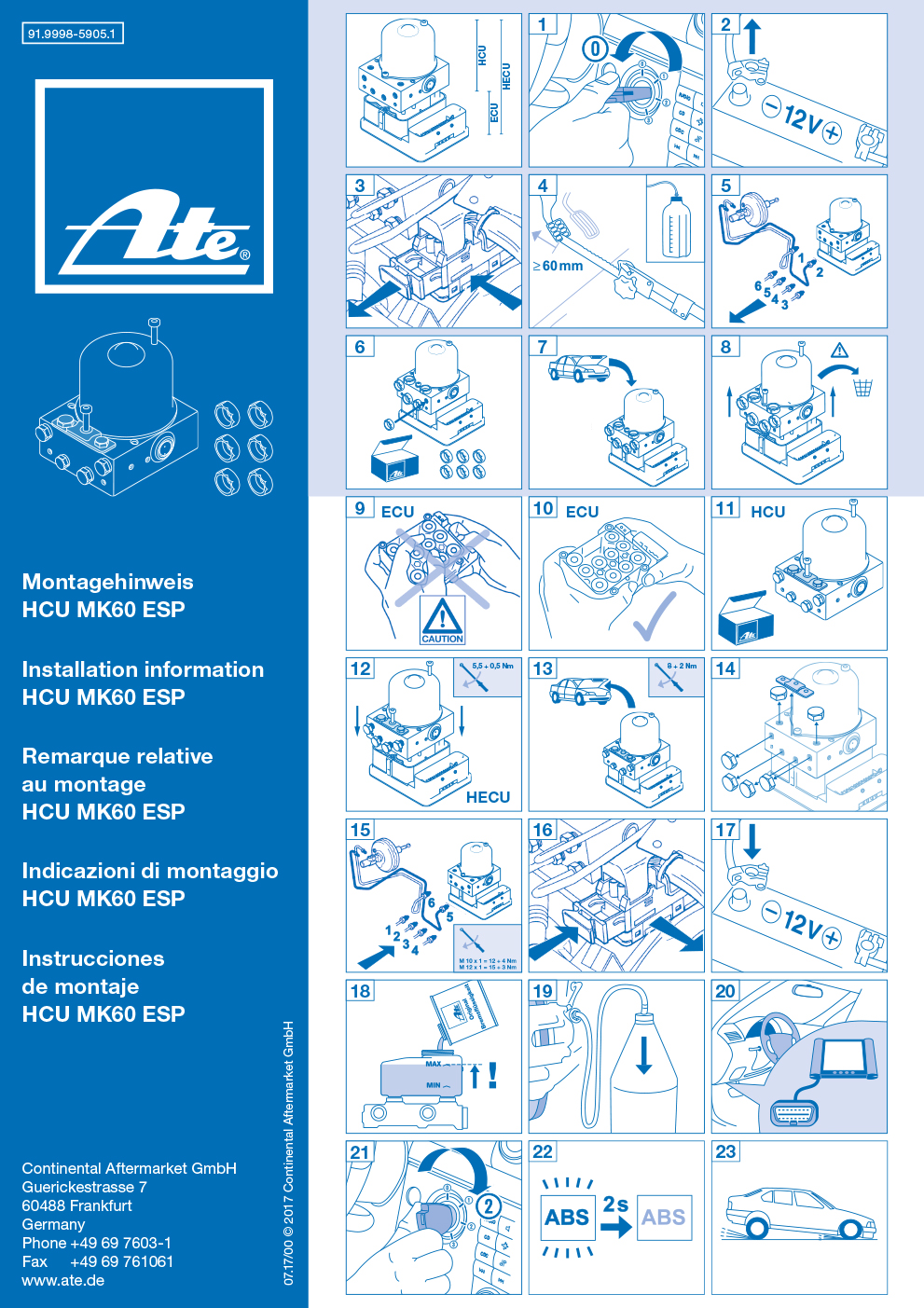 step-by-step explanation: how to assemble the hydraulic control unit of the  ate mk60